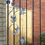 Metal hand crafted gate detail