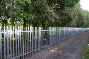 Bridgwater College 1.8m high galvanised palisade fencing