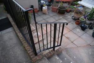 Metal balustrades and hand rails