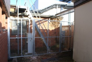 Musgrove Park steel cage compound