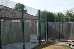 Panel and post fencing systems