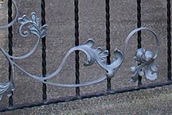 Metal gates and railings