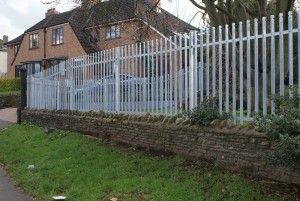UWE 1.8m high galvanised palisade fence