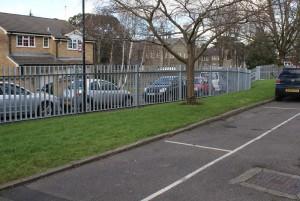 UWE galvanised palisade fence